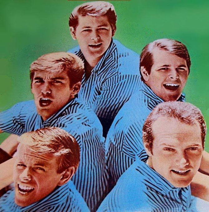 5 of 9 Beach Boys - missing: David Lee Marks, Bruce Johnston, Blondie Chaplin, Ricky Fataar.