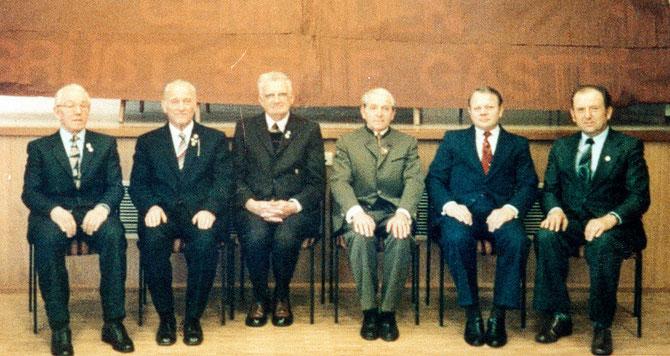 von links:Andreas Pilgrim, Hermann Sack, Heinrich Amrein, Heinrich Naß, Friedrich Müller, Heinrich Bubenheim