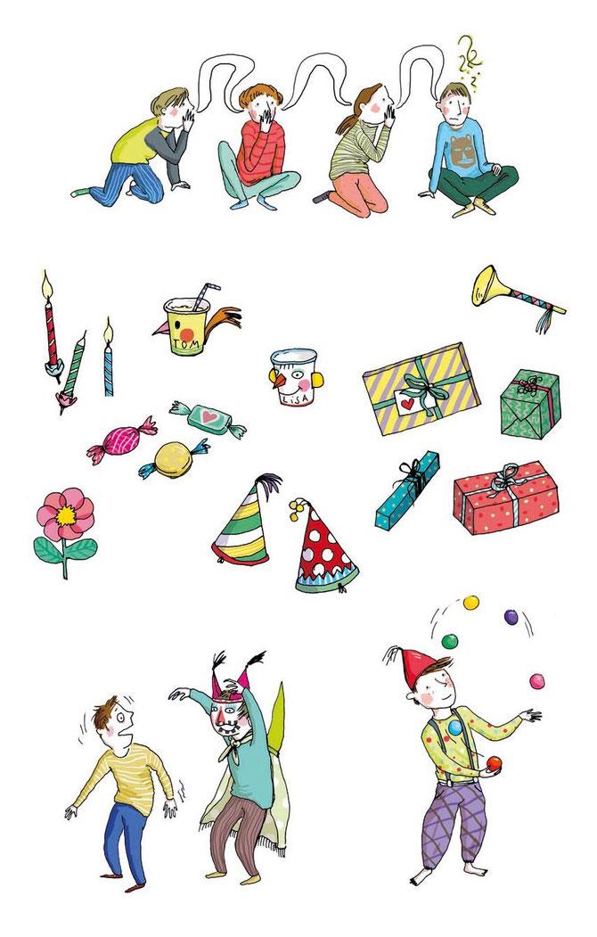 Heike Herold, kreative Kindergeburtstage feiern, Ravensburger Verlag, Marlies Schiller, Vignetten