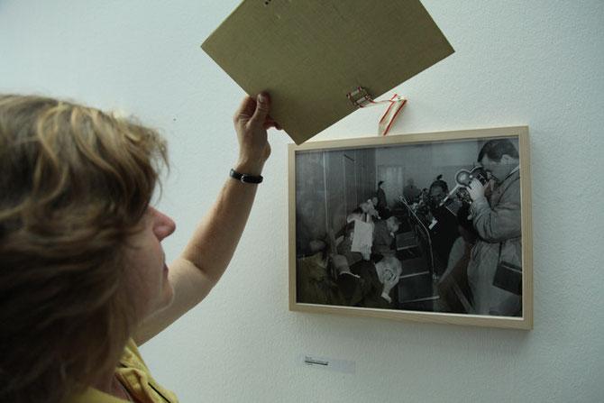 Obermajdan, Foto aus dem Treblinka-Prozess, 30x40cm, 2014