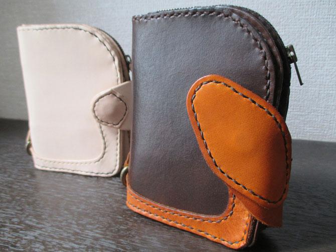 Handmade veg tan wallet