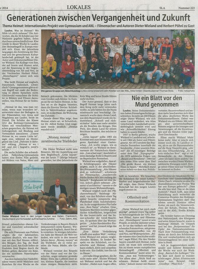 Südostbayerische Rundschau 09/27/2014