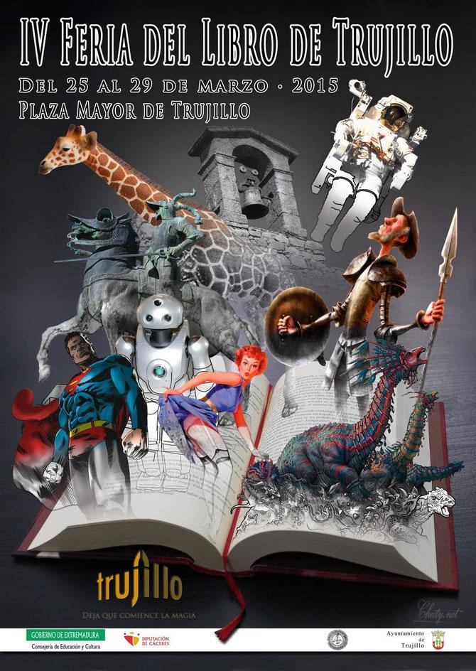 Cartel de la Feria del Libro en Trujillo