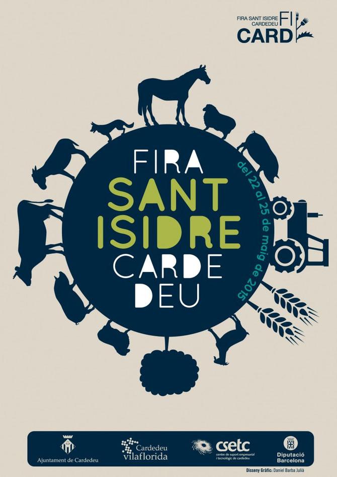 Cartel de La Fira de Sant Isidre en Cardedeu