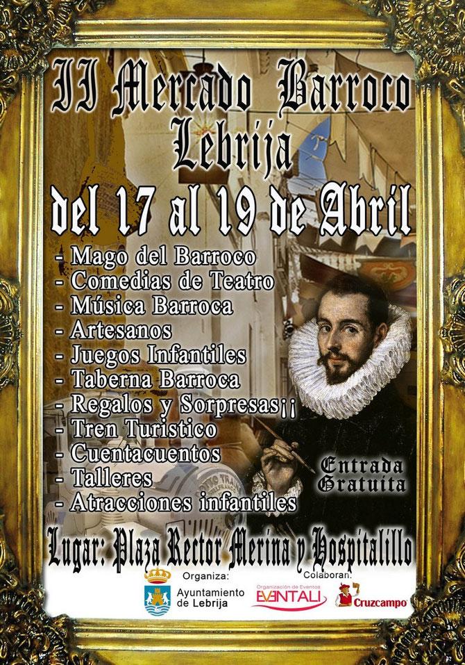 Programa del II Mercado Barraco en Lebrija