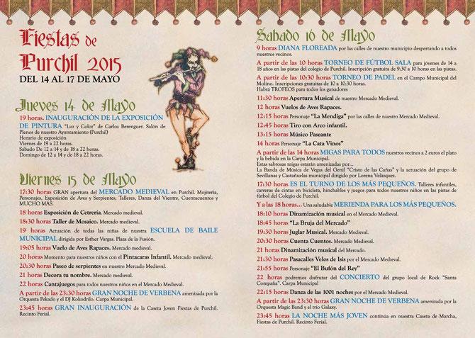 Programa Mercado Medieval y Fiestas de Purchil