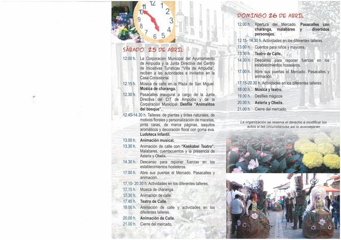 Programa del Mercado Regional de las Flores en Ampudia