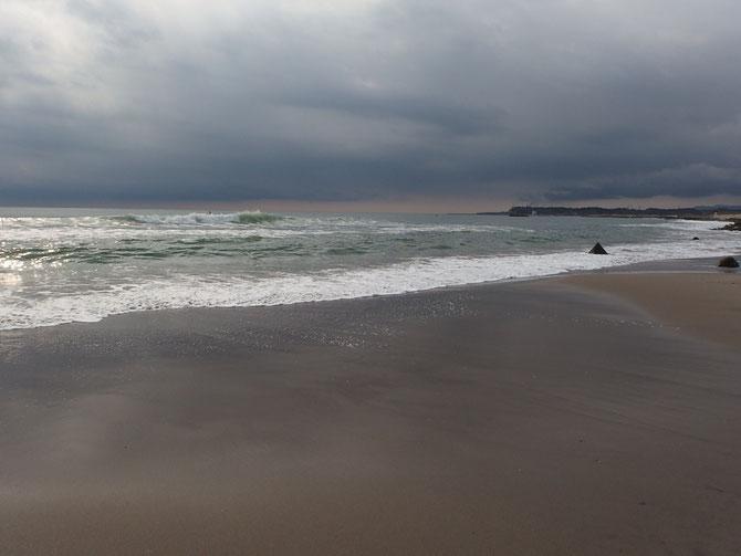 南相馬市 福島原発の見える海岸