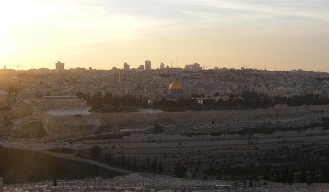 Sonnenuntergang in Jerusalem.