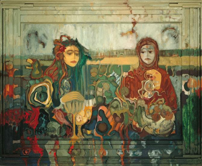 Lugar de ofrendas en el que no se pide nada a cambio - 162,4 x 133,3 cm - óleo/Dmp+T - Guillermo R. Mingorance