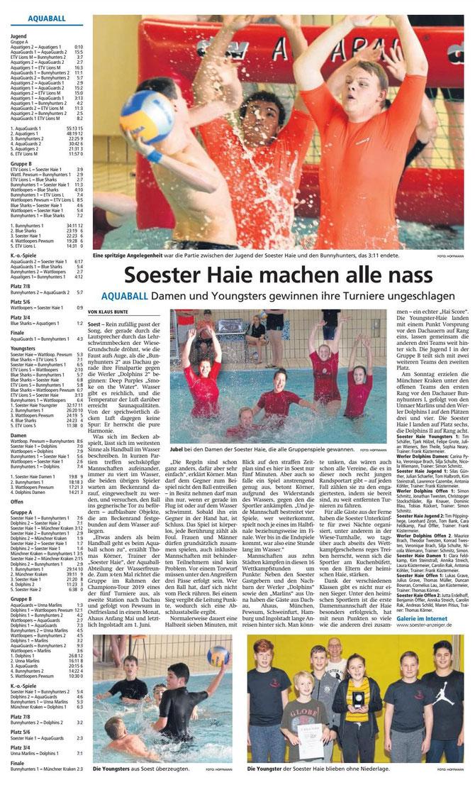 Soester Anzeiger vom 26.02.2019