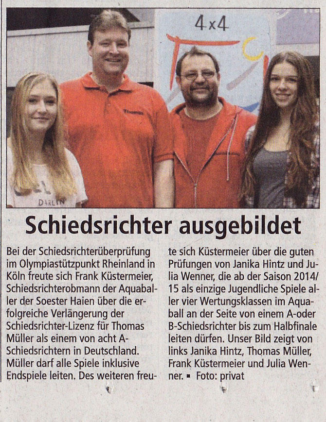 Soester Anzeiger vom 30.09.14