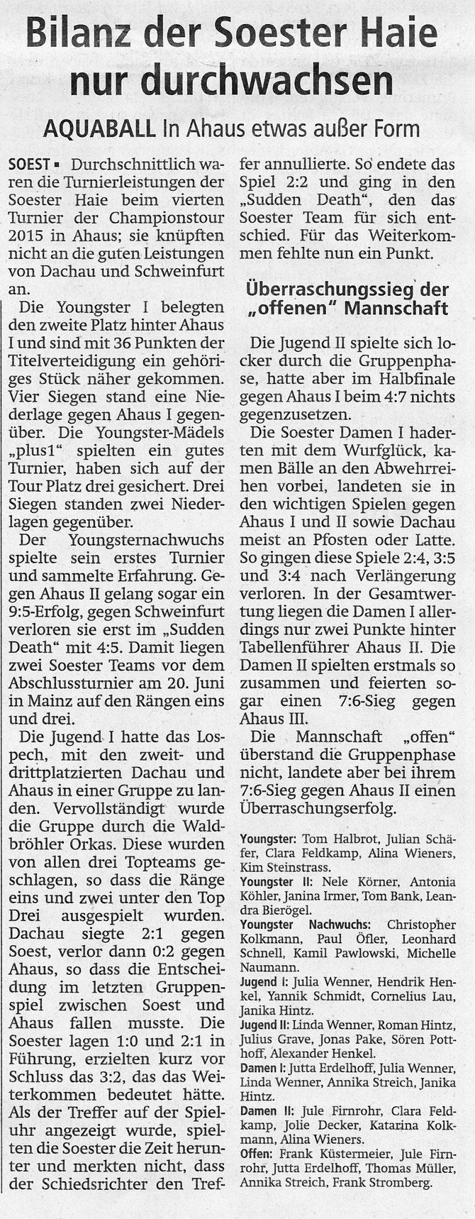 Soester Anzeiger vom 16.5.2015