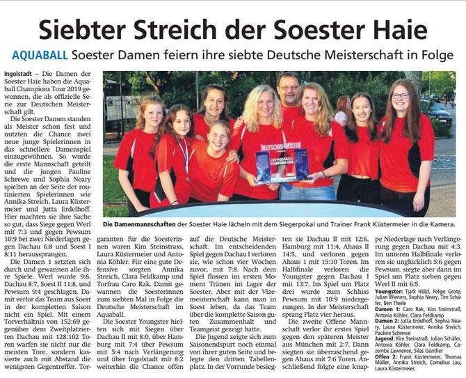 Soester Anzeiger vom 5.6.2019