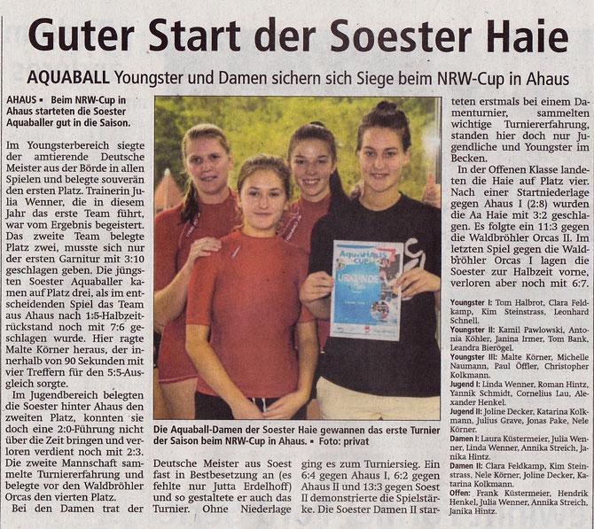 Soester Anzeiger vom 23.09.15