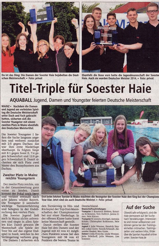 Soester Anzeiger vom 02.07.2014