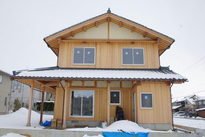 三条の家(建築中)
