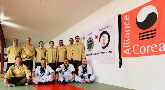 Hapki-Zen Seminar 2019 mit GM Han in Oberschan