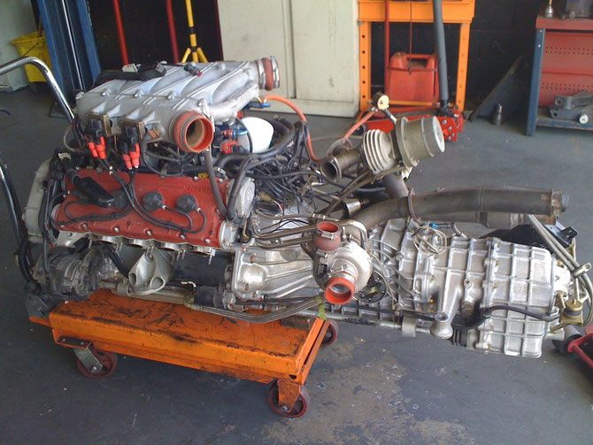 Ferrari F-40 engine LM 650+ HP MOD PERFORMED AND COMPLETED HERE IN HOUSE.