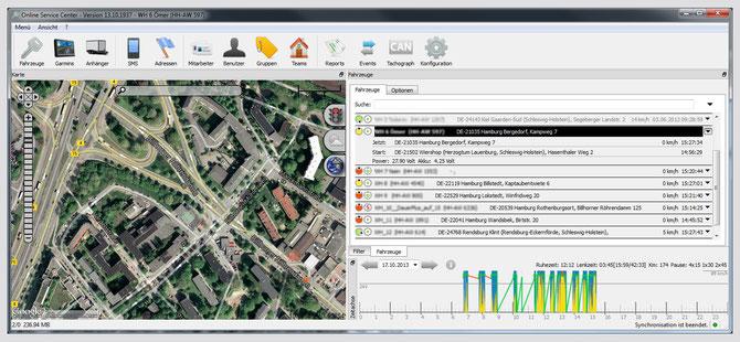 Transporter-Ortung benötigt Karten- und Ortungsdetails in professionellen Auswerte-Tools