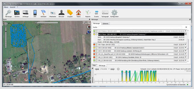 Karten- und Ortungsdetails sind wichtig bei der Landmaschinen Ortung