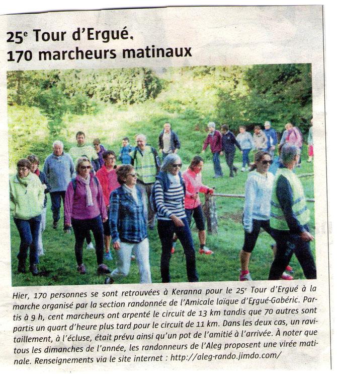 Tour  d'Ergué Gabéric dimanche 6 septembre 2015