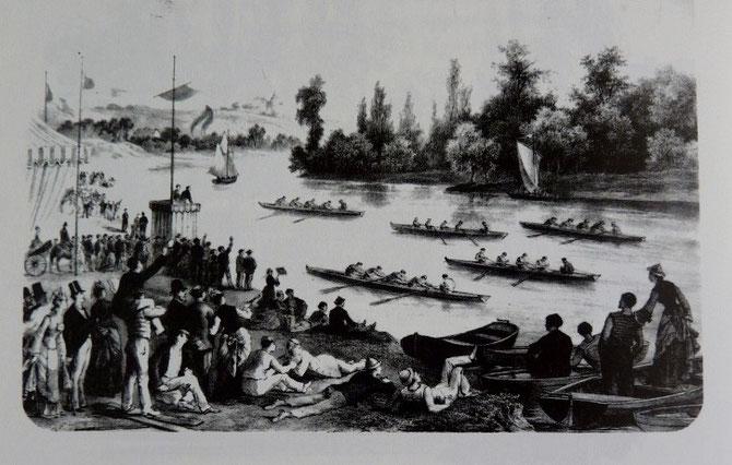 Canotage, in KARR, GATAYES et col, Le canotage en France, éd. Taride, 1858 (rééd. Chasse-Marée, 1991)
