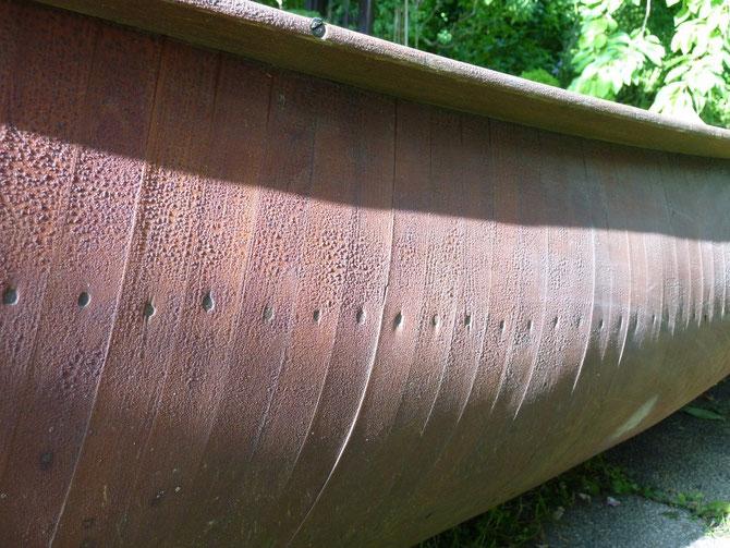 canot à cotes (cedar rib) - Héritage Canoë Bois