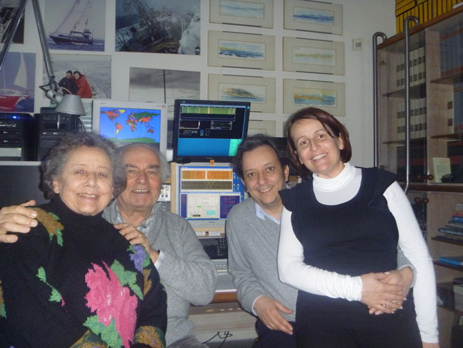 Giorgio IK1UWL con Anna, Elena ed io