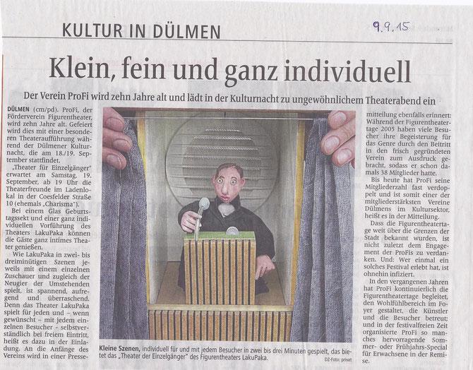 DZ-Artikel zur Kulturnacht
