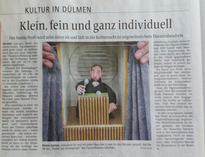 Bericht aus der DZ zur Kulturnacht vom 9.9.2015