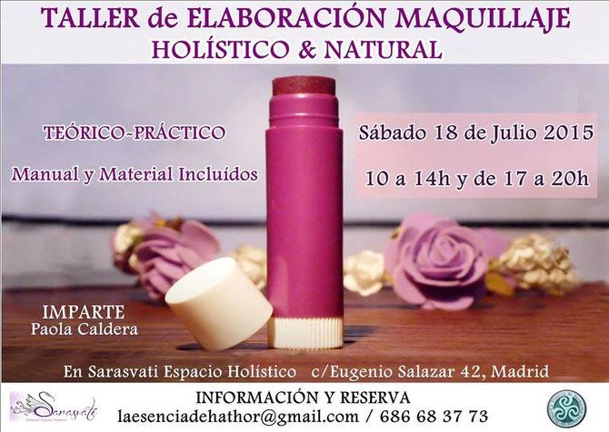 Taller Elaboración Maquillaje Holístico & Natural