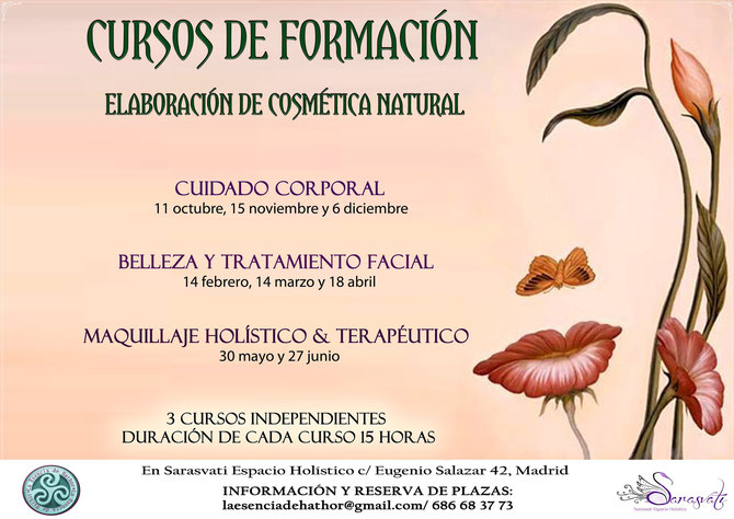 Cursos Cosmética Natural y Maquillaje Terapéutico, Madrid