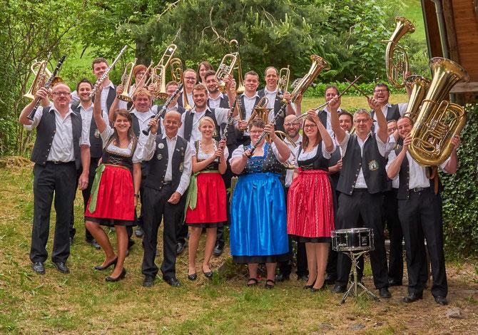 Aktuelle Besetzung der Finstergrundmusikanten 2017