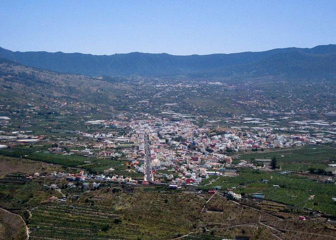 Blick auf Los Llanos de Aridane vom Mirador El Time