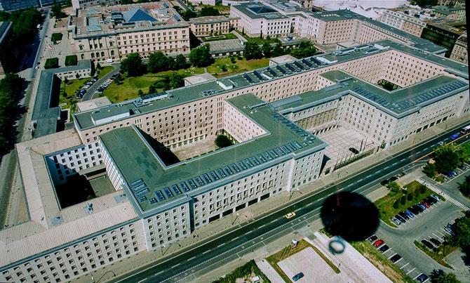Das Bundesfinanzministerium von oben