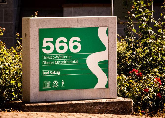 Rheinkilometer 566. Im Unesco-Welterbe.