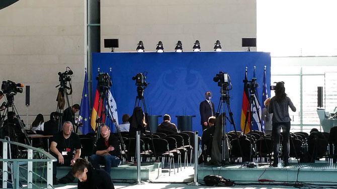 Pressewand im Bundeskanzleramt