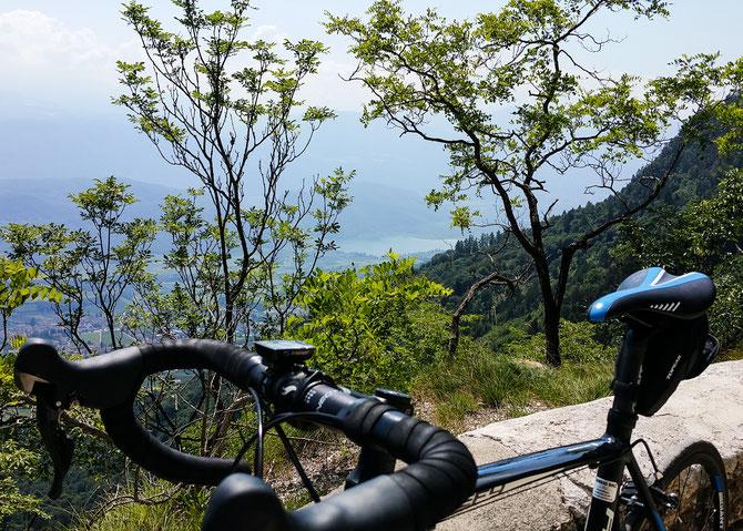 Blick auf den Kalterer See von ca 1.100 m Höhe