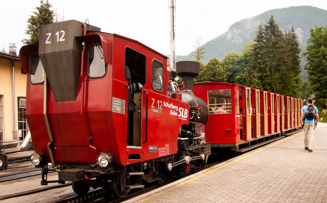 Start mit der Schafbergbahn in St. Wolfgang