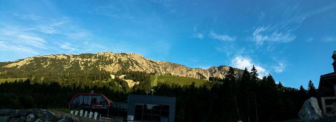 Abendstimmung. Bei Oberjoch. Blick auf den Iseler 1.876 m