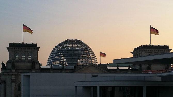 Reichstag in der Abendsonne