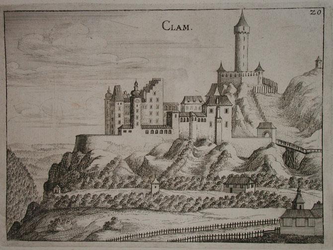 Burg Clam Topographia Vischer