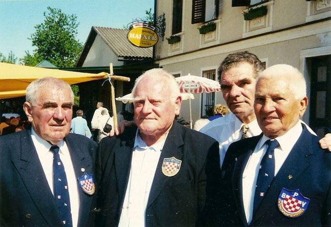 S lijeva na desno:  Ilija Abramović, Omer Vrabac, Slavko Grubišić i Mirko Karačić, predsjednik PBV