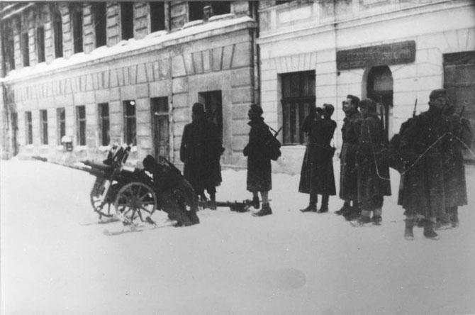Partizansko topništvo u Travniku 1944.