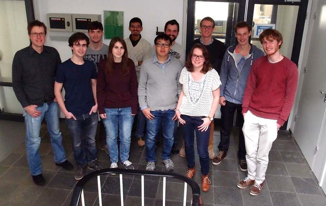 2015 FLTR: Stan, Willem, miel, Alicia, Shreyans,Alex, Franklin, Silke, Tim, Marnix, Jochem