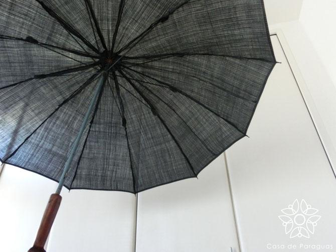 (※こちらの日傘は、天然木の持ち手、麻素材のロング日傘(日傘専用品)です)