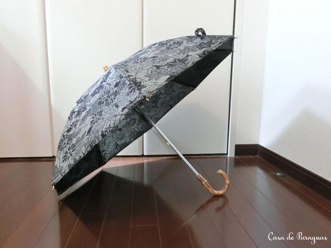(※こちらの日傘は、天然木(竹)の持ち手、絹素材のロング日傘(日傘専用品)です)
