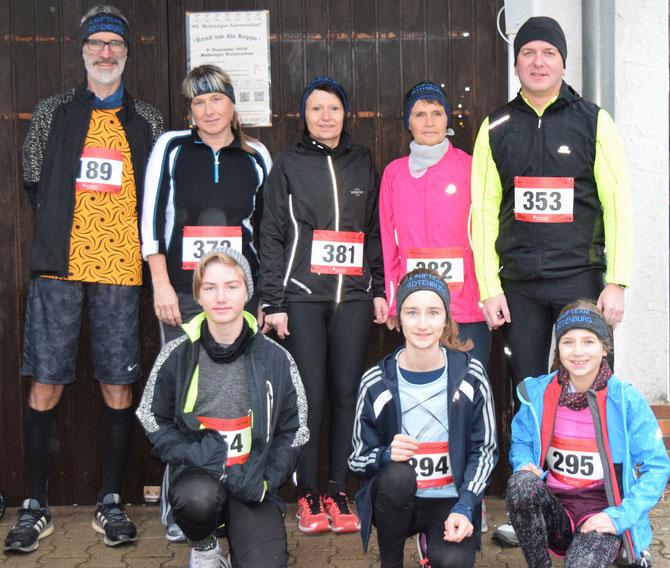 Laufteam Rotenburg beim 49. Adventslauf Melsungen 2018