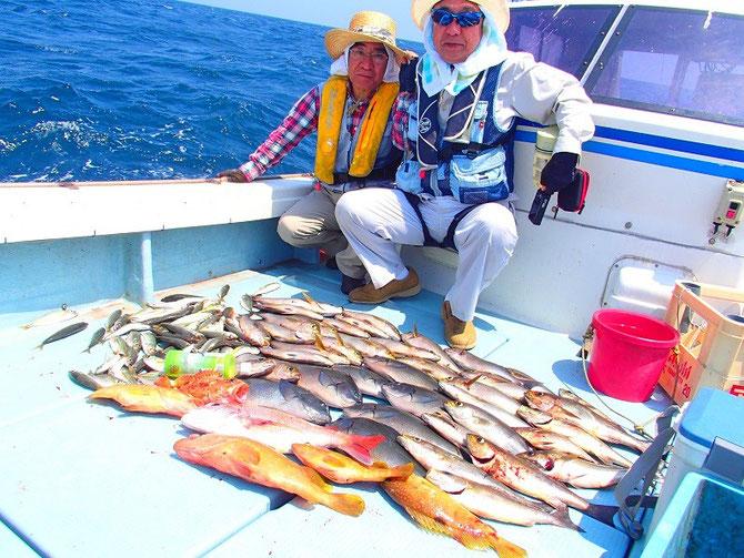 2015.7.28は午後からタイラバ、29は午前中だけスルスル釣りです。